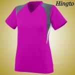 Light Weight Girls Rose Soccer Team Wear Short Sleeve Football Jerseys Manufactures
