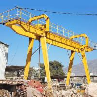 50 Ton Electric Mobile Rail Mounted Double Girder Gantry Crane Compact Structure for sale
