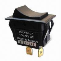 Rocker Switch with Matte Plastic Housing, OEM/ODM Orders are Welcome Manufactures