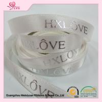 Personalized christmas Satin Hot Stamping Ribbon Polyester Material Manufactures