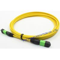 China Ribbon Fan Out MPO Multimode Fiber Optic Patch Cord Assembly FTTX on sale
