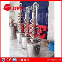 150L home alcohol distiller with 6 red copper stil column plates Manufactures