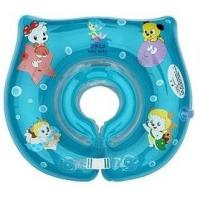 CE Blue Inflatable Swimming Neck Rings , Baby Neck Float Ring Manufactures