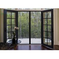 Grilles Design Hinged Aluminium Doors , Exterior / Interior Swinging Doors Manufactures