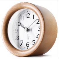 Round Shape Wood Grain Alarm Clock Stopwatch Movement Type 1*AAA Battery Powered Manufactures