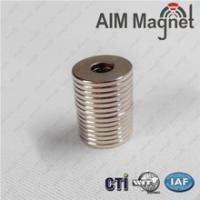 China Ring neodymium magnet permanent magnet D10xD3.7X1.5/N35 on sale