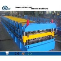 Corrugated Iron Double Layer Roll Forming Machine , Concrete Roof Tile Making Machine Manufactures