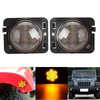Amber 2007-2017 Jeep Wrangler Smoked Turn SignalsClear Lens IP 68 Waterproof Manufactures