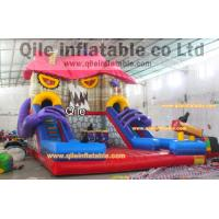 Buy cheap large inflatable Terrorist house slide inflatable Disneyland castle inflatable slide for Halloween from wholesalers