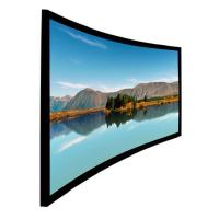 China High Level Home Theater Curved Projection Screen 100 inch  Black Aluminum Frame on sale