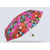 Anniversary Gift Lady / Girls 5 Fold Umbrella Mini Pocket Umbrella Sun Protection Manufactures