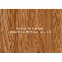 PVC Decorative Foil Wood Grain Vinyl Wrap For PVC Ceiling Planks No Bubbles Manufactures