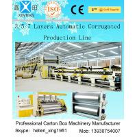 3 Layers Corrugated Packaging Box Making Machine 70m * 8.2m * 4.5m For Paperboard Manufactures