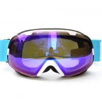 Quality Interchangeable Spherical Mirrored Ski Goggles Dual Lens UV Protection for sale