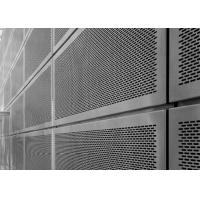 Aluminum Perforated Screen Facade With Round / Slot Hole Or Hexagonal Hole Manufactures