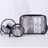 Flexible 3 Piece Clear Cosmetic Bag Set Good Stability Every Size Available Manufactures