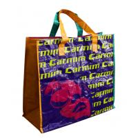 4 Color Printing Carmic PP Woven Shopping Bags, Reusable Carrier Bag With Sewing X Manufactures