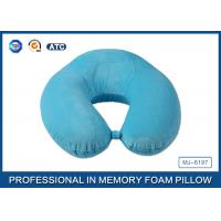 Super Soft Velboa Pillow Case U Shape Memory Foam Neck Pillow / Contour Neck Pillow Manufactures