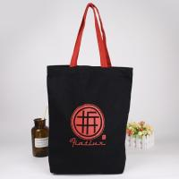 Personalized Red With Black Printed Reusable Shopping Bags Travel Packing Waxed Canvas Bags Manufactures