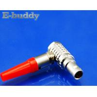 Lemo Compatible Connector FHG 00B 0B 1B 2B Right Angle Circular Cable Connector 90 Degree Male Plug Manufactures