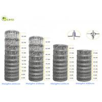 Agricultural Galvanized Wire Mesh Fence 1.7mm - 2.5mm Wire Gauge For Farm Cattle Manufactures
