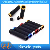 Mountain Bike BMX Rubber Handle Grips with Aluminum Rings  Floding Locking Bicycle Handlebar Grips Manufactures