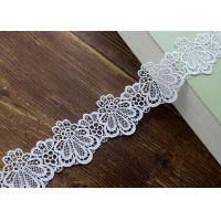 Azo Free DTM Guipure Embroidered Dress Lace Trim Ribbon With High Color Fastness Manufactures