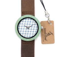 Japan quartz Movement Leather Bamboo Wooden Watch Manufactures