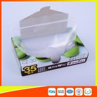 Transparent Plastic Zipper Top Zip Lock Bag For Cold Food Storage FDA Approved Manufactures