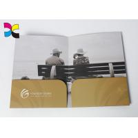 China Environment - Friendly Printed File Folders With Pockets ,  Luxurious Restaurant Bill Folder on sale