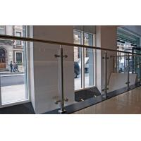 China Commercial Stainless Steel Balustrade Design With Tempered Glass on sale
