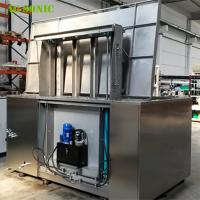 Automatic Ultrasonic Cleaner with Hydraulic Lift PLC Controlled for Wheel Rim Cleaning Manufactures