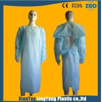 China Lightweight Disposable Plastic Gowns / Patient Surgical Gowns Anti Blood on sale
