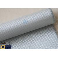 Silver Coated Fabric Aluminized Fiberglass Cloth 6.5OZ 0.2MM 260℃ Checked Manufactures