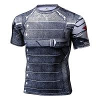 China Super Hero Series Cool Compression Shirts , Compression Tee Shirt Breathable on sale