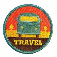 High Density Iron On Embroidered Patches For School Cloth Brand Manufactures