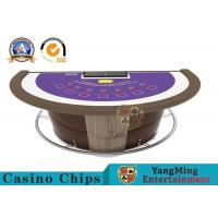 Luxury Super Casino Blackjack Table  , 7 Player Casino Poker Game Desk Manufactures