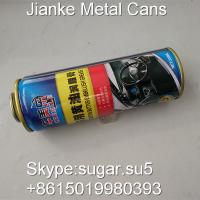 China Tinplate metal aerosol cans necked in Diam.60mm for car care on sale