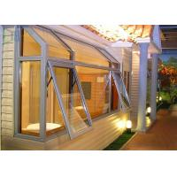 Morden House Tempered Glass Aluminium Awning Windows / Top Hung Window Manufactures