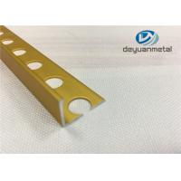 Bright Gold  Aluminium Floor Profile  L With Hole Punched Manufactures