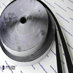 China 20mm Self Adhesive Hook And Loop Tape Black Velcro 2 Inch Rolls Hot Melt Glue wholesale