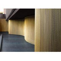 China Gold Color Aluminum Chain Link Mesh Curtain For Balconies And Corridors on sale