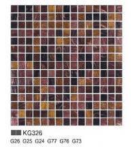 KG series glass mosaic for living room KG326
