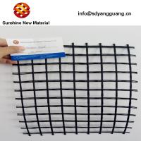 Factory supply fiberglass grid with CE coated bitumen 50kn 100kn black color Manufactures