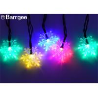 China 6M Snowflake Solar Powered Outdoor Xmas Tree Lights , Multi Colored Led Christmas Lights on sale
