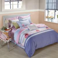 King Size 6 Piece Home Coral Bedding Sets Silk Material Most Comfortable Manufactures