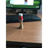 Italian Style Red Color Brass Plumbing Parts / Short Plastic Flow Meter Manufactures