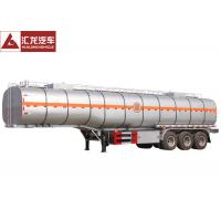 Thermal Insulation Chemical Tank Trailer  Fiber Glass Simple Structure Easy Maintenance Manufactures