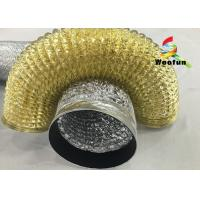 """Quality 2""""~20"""" Size Aluminum Flexible Duct Installation Easy Reinforced Double Layer for sale"""