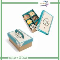 Buy cheap Disposable Biodegradable Paper Bento Lunch Boxes / Take Away Bento Box from wholesalers